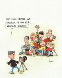 Behinderte Cartoons - Interview mit Phil Hubbe
