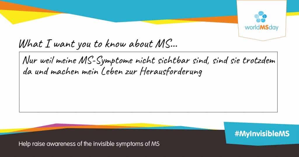 Welt-MS-Tag: Sei dabei!